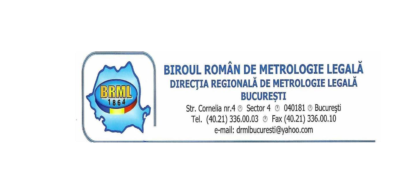 Atestat BRML pentru laboratorul de metrologie